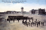 Officer's Quarters, Parade Grounds and Barracks, Fort Caswell